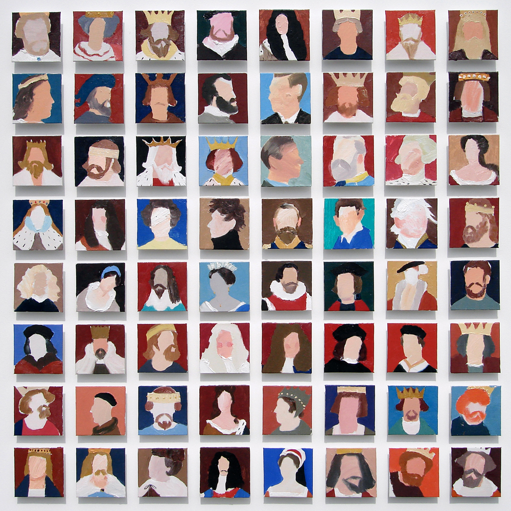 27-sixty-four-british-kings-and-queens-oil-on-canvas-125-x-125cm-2007