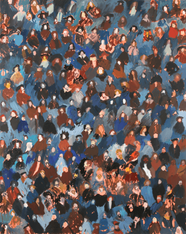 37-a-crowd-of-old-masters-oil-on-canvas-125-x-155cm-2008