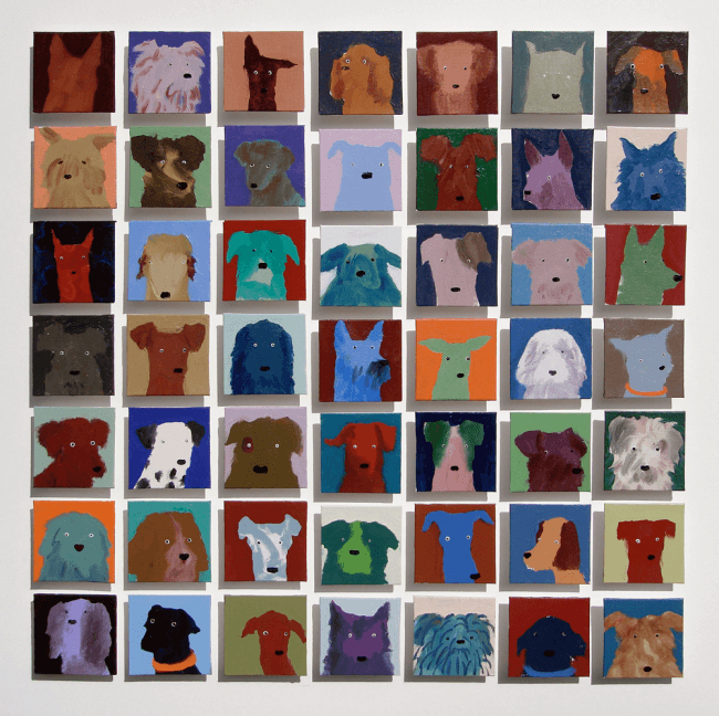 7-forty-nine-dogs-oil-on-canvas-105-x-105cm-2008